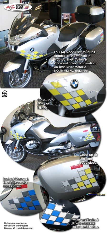 checker graphic kit 1 for bmw r 1200 rt
