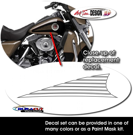 Tank Graphic Decal Kit 1 For Harley Davidson Ultra Classic