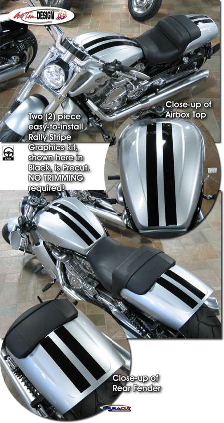 Rally Stripe Graphics Kit 2 For Harley Davidson V Rod Muscle