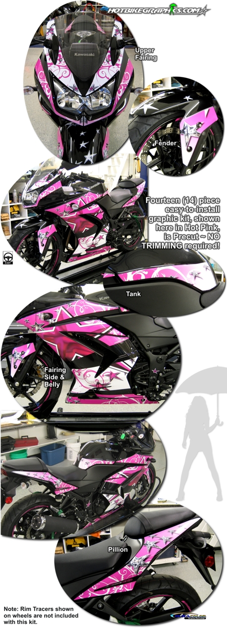 Kawasaki Ninja 250R Starswept Graphic Kit 1