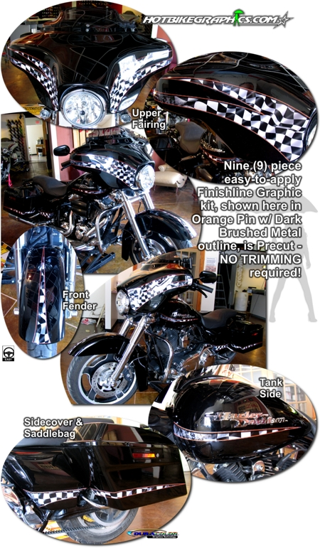 Harley Davidson Street Glide Graphics Kit 3 Finishline