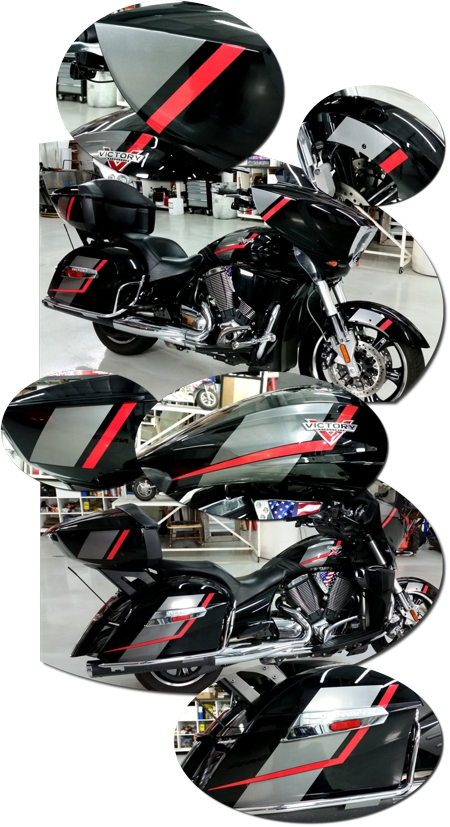 Victory Cross Country Tour Speed Graphic Kit 1 2017 Magnum