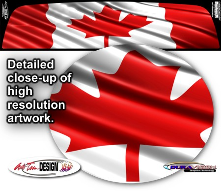 Chevrolet Avalanche Canadian Flag Rear Window Graphic - Rear window decals for trucks canada