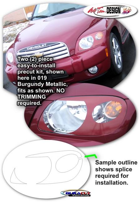Headlight Enhancement Decal Kit 1 For Chevrolet Hhr