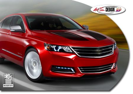 Hood Enhancement Graphics Kit 1 For 2015 Chevrolet Impala