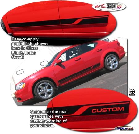 Dodge Avenger Body Side Graphic Kit 3