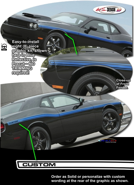 Body Side Graphic 4 For Dodge Challenger