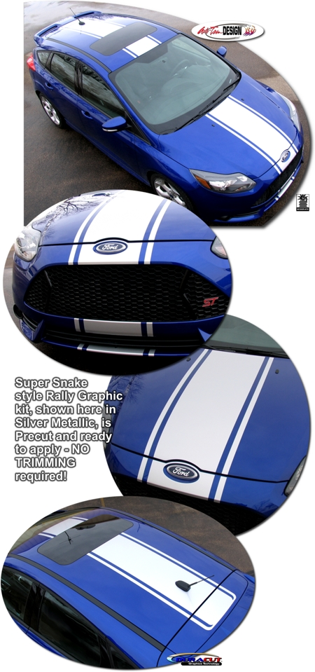 Ford Shelby Truck Price >> Ford Focus Rally Stripe Graphic Kit 2 - ST - Shelby Super ...