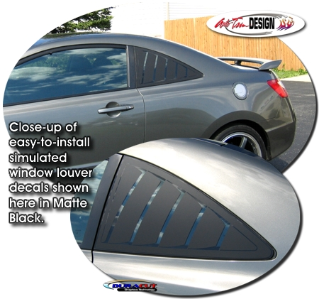 Simulated Window Louver Decal Kit 1 for Honda Civic Coupe
