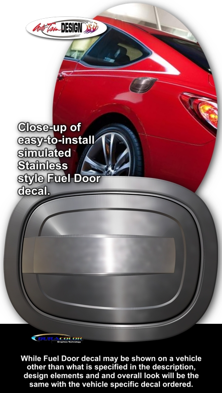 Hyundai Genesis Coupe Simulated Billet Style Fuel Door Decal 1