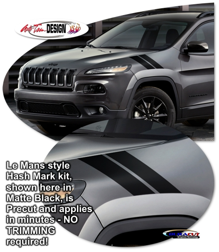 jeep cherokee precut le mans style hash mark kit. Black Bedroom Furniture Sets. Home Design Ideas