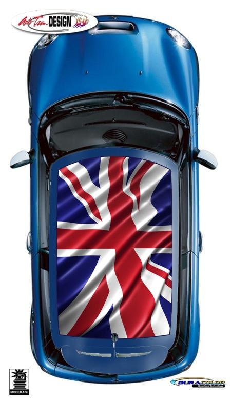 Mini Union Jack British Flag Roof Graphic Kit 3 Cooper