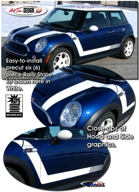 Rally Graphics Kit 1 For Mini Cooper