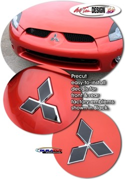 Front Amp Rear Emblem Decal Kit 1 For Mitsubishi Eclipse