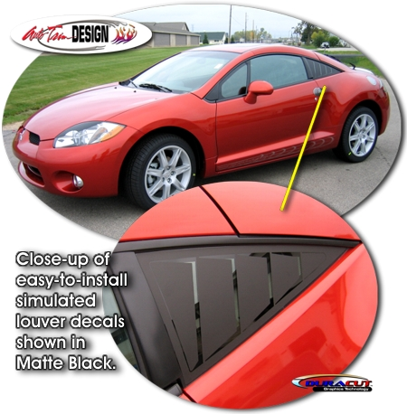 Simulated Window Louver Decal Kit 1 For Mitsubishi Eclipse