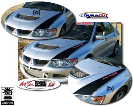 Hood Graphic Kit 1 For Mitsubishi Lancer Evolution Viii Ix