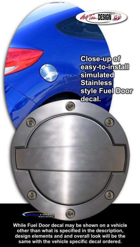 Nissan 350z Simulated Billet Style Fuel Door Decal 2