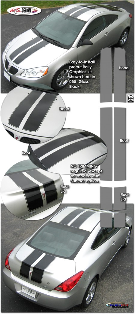 Rally Stripe Graphic Kit 1 For Pontiac G6 Coupe And Convertible