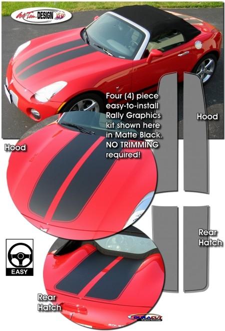 Pontiac Solstice Rally Stripe Graphic Kit 1