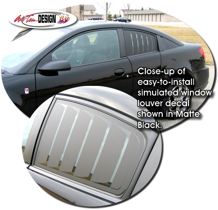 Simulated Window Louver Decal Kit 1 For Saturn Ion Quad Coupe
