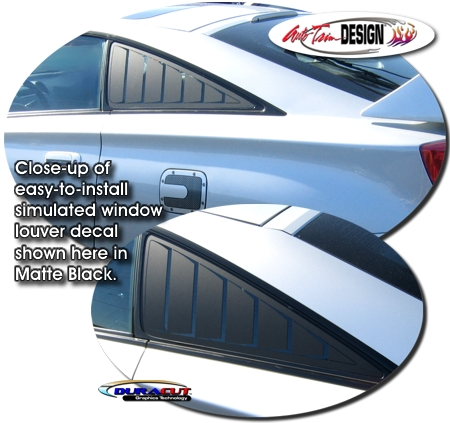 Simulated Window Louver Decal Kit 1 For Toyota Celica