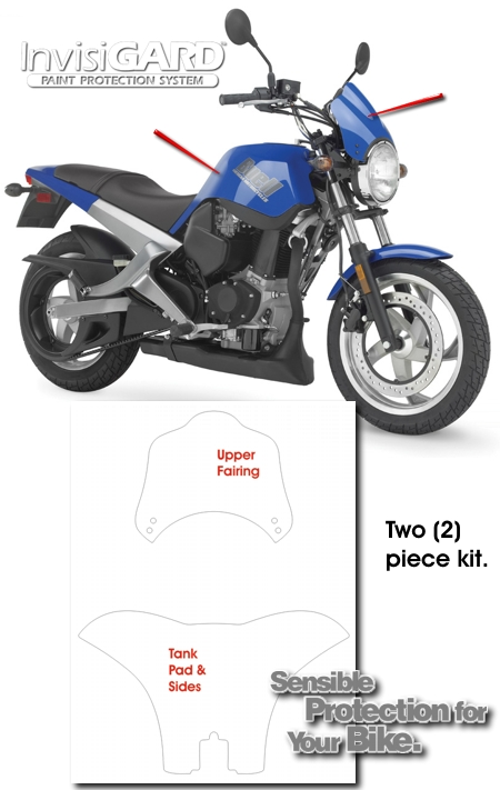 Invisigard Plastic Protection Kit For Buell Blast 174