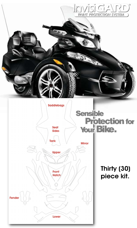 Bombardier Can Am Spyder Rt Invisigard Plastic Protection Kit
