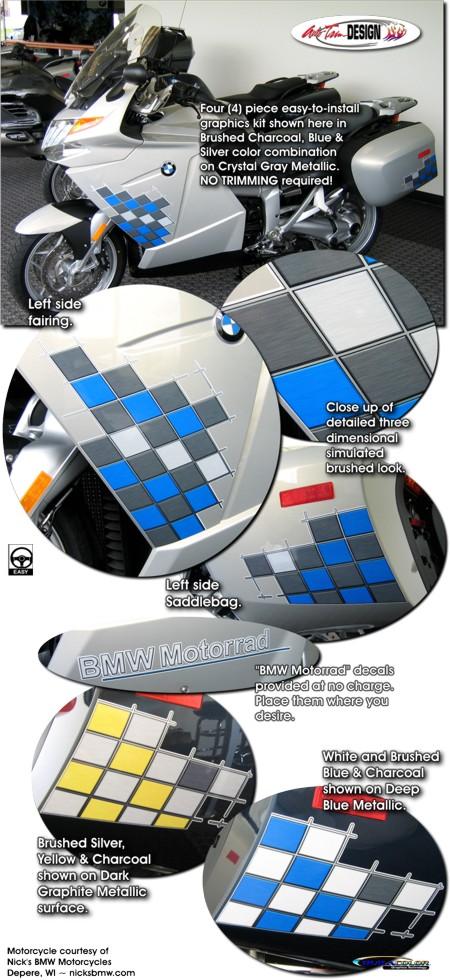 Checker Graphic Kit 1 For Bmw K 1200 Gt K 1300 Gt