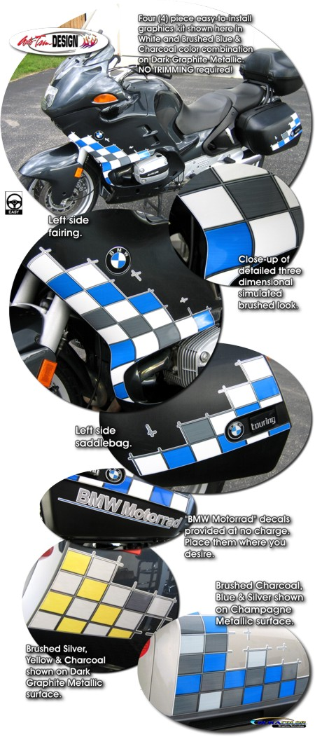 Checker Graphic Kit 1 For Bmw R 1100 1150 Rt