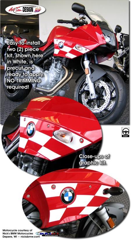 Bmw F 800 S Checker Graphic Kit 1