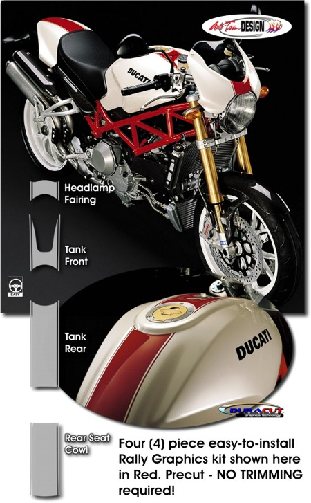 Ducati Monster Rally Stripe Graphic Kit 1