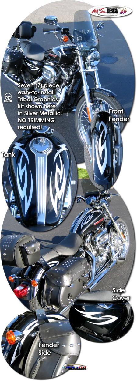 Tribal Graphics Kit 1 For Harley Davidson Sportster W 4 5