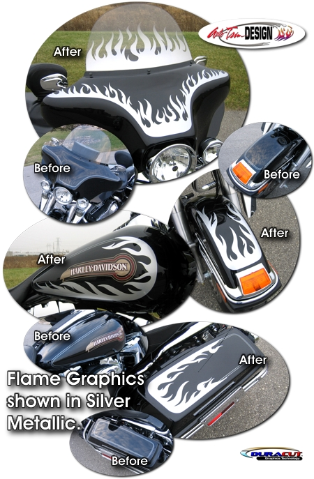Harley Davidson Electra Glide Classic Flame Graphics Kit 1