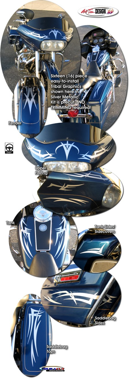 Tribal Graphics Kit 1 For Harley Davidson Road Glide