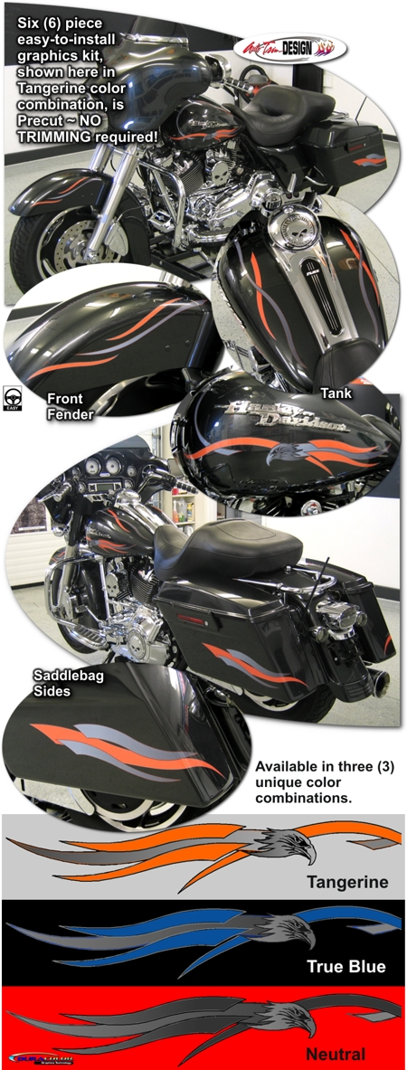 Graphics Kit 1 For Harley Davidson Touring Bikes