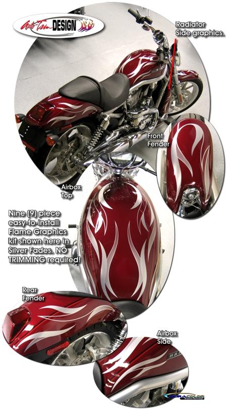 Flame Graphic Kit 1 For Harley Davidson V Rod