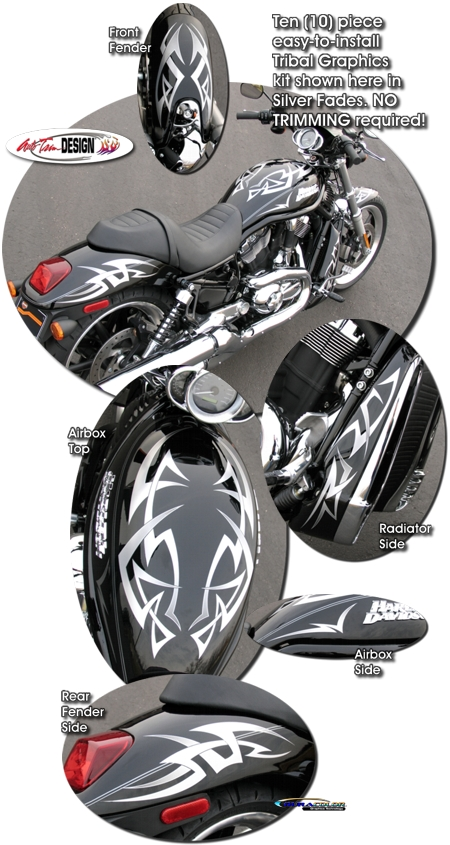 Harley Davidson V Rod Tribal Graphic Kit 1