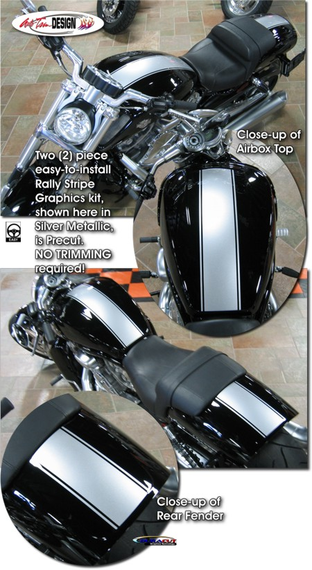 Rally Stripe Graphics Kit 1 For Harley Davidson V Rod Muscle