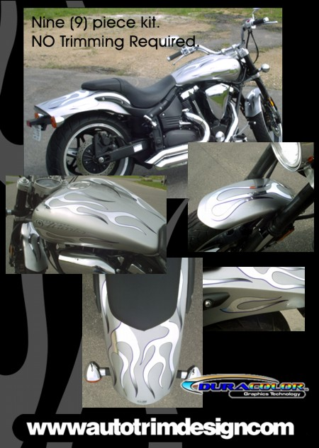 Red Window Tint >> Graphic Kit 1 for Yamaha Road Star Warrior
