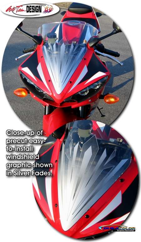 Windshield Graphic Kit 1 For Yamaha Yzf R6