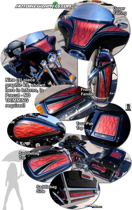 Harley Davidson Electra Glide Classic Airbrush Flame