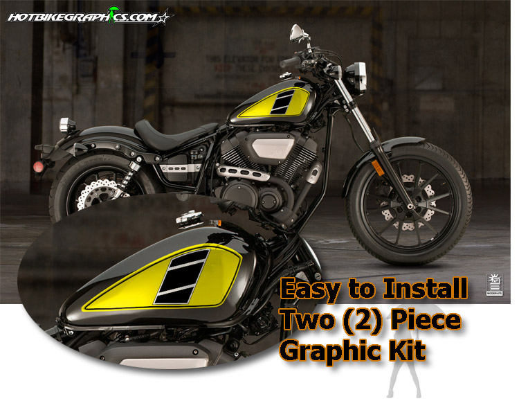 Yamaha Bolt Retro Fuel Tank Graphic Kit 1