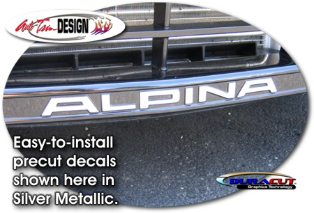 Bmw Alpina B6 Front Air Dam Decal Kit 1
