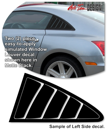 Chrysler Crossfire Simulated Window Louver Decal Kit 1