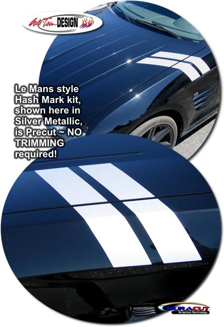 Precut Le Mans Style Hash Mark Kit For Chrysler Crossfire