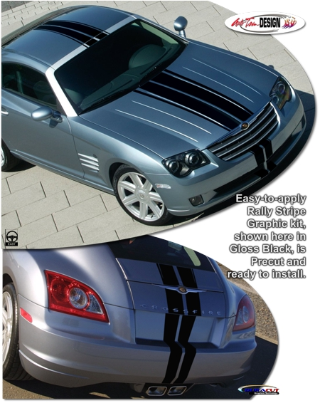 Chrysler Crossfire Rally Stripe Graphic Kit 1