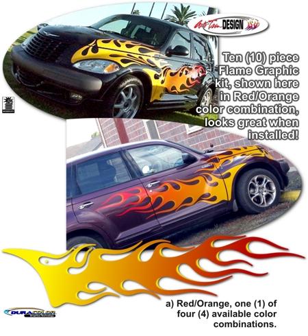 Chrysler Pt Cruiser Flame Graphics Kit 3 Mopar Flame