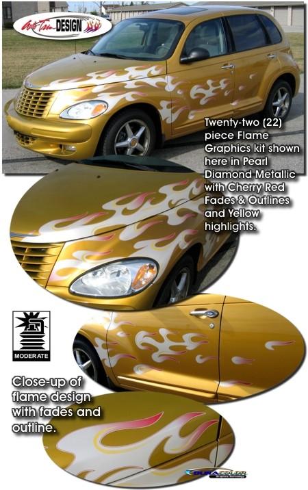 Flame Graphics Kit 1 For Chrysler Pt Cruiser