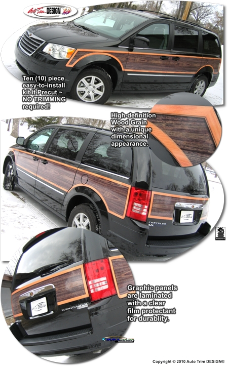 Wood Panel Graphic Kit For Chrysler Town Amp Country Dodge