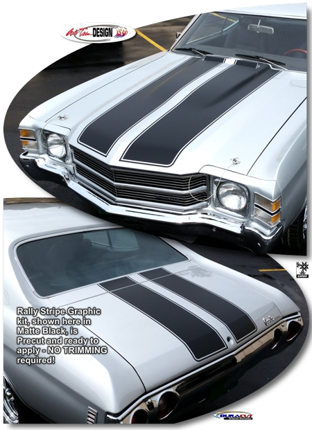 Chevrolet Chevelle Ss Rally Stripe Graphic Kit Cowl